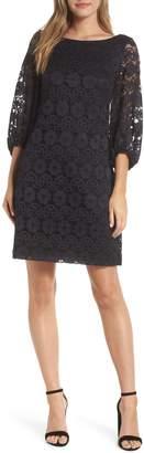 Eliza J Balloon Sleeve Lace Shift Dress