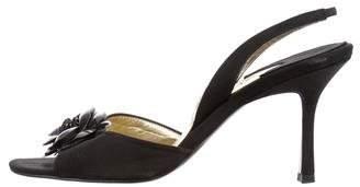 Chanel Camélia Slingback Sandals