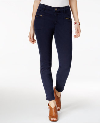 Style & Co Zippered-Pocket Skinny Pants, Created for Macy's $49.50 thestylecure.com