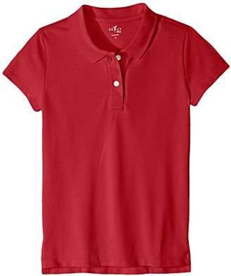 Scout + Ro Big Girls' Short-Sleeve Pique Uniform Polo Shirts