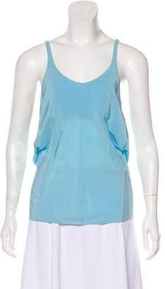 Balenciaga Silk Sleeveless Top