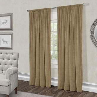 Exclusive Home 2-pack Burlap Jute Window Curtains