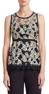 Nanette Lepore Midsummer Embroidered Sleeveless Top