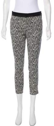 Rebecca Taylor Mid-Rise Patterned Pants