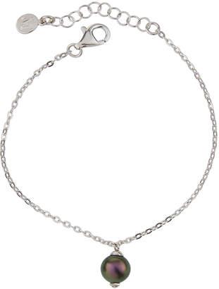 Majorica Cubic Zirconia & Pearl Bracelet, Black