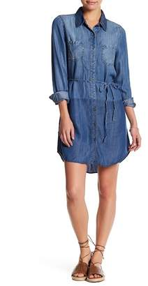 Love Stitch Long Sleeve Shirt Dress