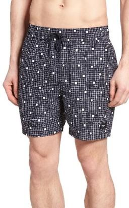 Men's Jack Spade Graph Check Swim Trunks $98 thestylecure.com