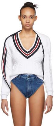 Y/Project ホワイト V ネック セーター