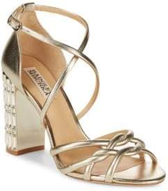 Badgley Mischka Soria Metallic Rhinestone Heels