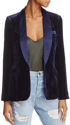 Joie Mehira H Velvet Shawl-Collar Blazer