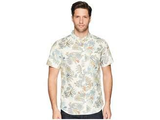 VISSLA Strah Woven Top Men's Short Sleeve Button Up