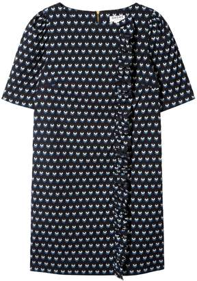 Chloé Dagny Ruffle Side Shift Dress Jacquard