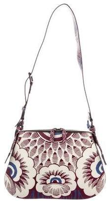 Valentino Runway Mixed Floral Print Shoulder Bag