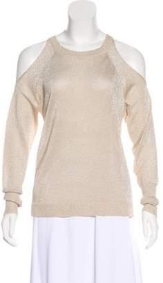 Ramy Brook Metallic Cold-Shoulder Sweater