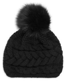 Inverni Beatrice Fur Pom Pom Beanie