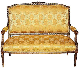 One Kings Lane Vintage Antique French Settee - House of Charm Antiques