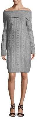 Eliza J Cable-Knit Sweater Dress