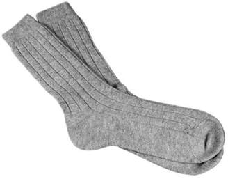 Black Men's Light Grey Cashmere Socks