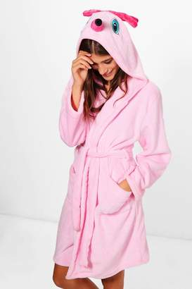 boohoo Flamingo Hooded Robe