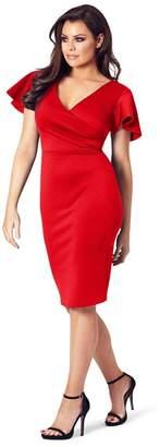 Jessica Wright Sistaglam Love Jessica - Red 'Tinka' Bodycon Dress