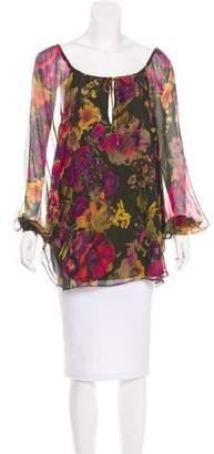 Haute Hippie Silk Floral Blouse