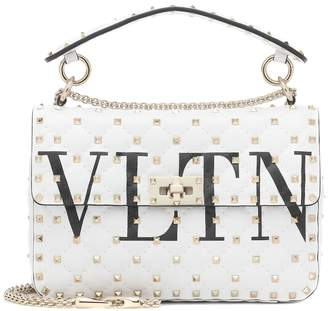 Valentino Garavani Rockstud Spike Medium VLTN leather shoulder bag