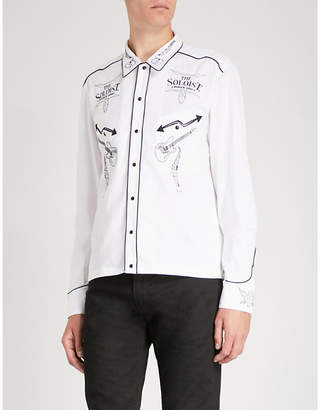 The Soloist Rock'n'roll-embroidery cotton and silk-blend shirt