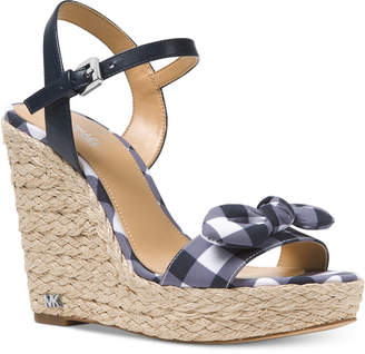 Michael Kors MICHAEL Pippa Gingham Espadrille Wedge Sandals, Created for Macy's