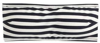 J.Crew Stripe Tie Back Bandeau Bikini Top
