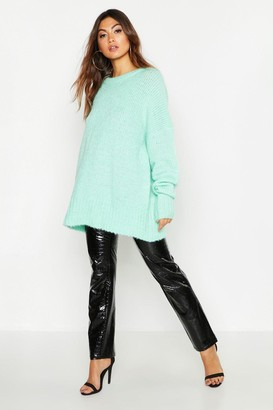 boohoo Oversized Rib Knit Boyfriend Sweater