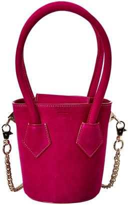 Salar Milano Celia Soft Suede Bucket Bag