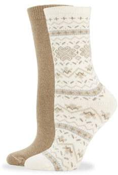 Hue Two-Pack Fair Isle Socks