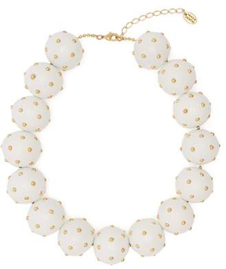 Vanda Jacintho - Studded Bead Necklace - Womens - White