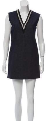 Miu Miu Embellished Denim Dress