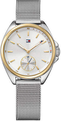 Tommy Hilfiger Silvertone Stainless Steel Chronograph Mesh Bracelet Watch