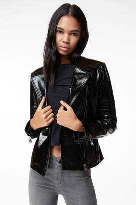 Aimee Leather Jacket In Black Patent