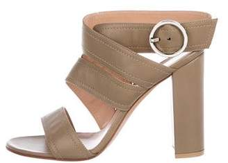 Gianvito Rossi Leather Strap Sandals