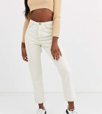 Missguided Tall wrath straight leg jeans in ecru