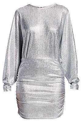 IRO Women's Silar Metallic Long-Sleeve Mini Dress
