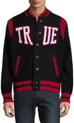 True Religion Snap Varsity Jacket