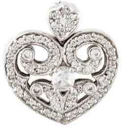18K Diamond Heart Locket Pendant