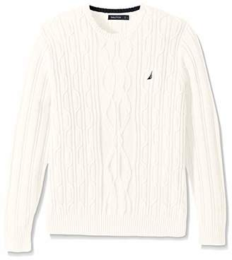 Nautica Men's Crewneck Cable Sweater