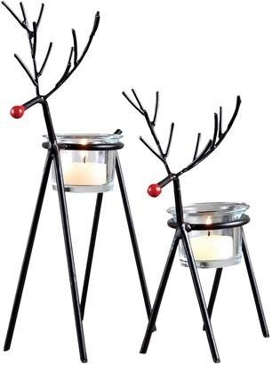 SAM. San Miguel Miguel Christmas Reindeer Votive Candle Holder 2-piece Set