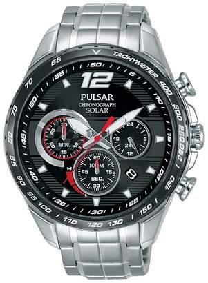 Solar Men's Stainless Steel Bracelet Watch