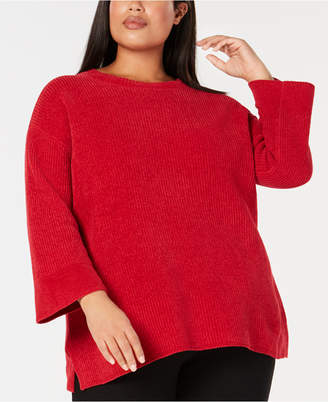 Eileen Fisher Plus Size Organic Cotton Sweater