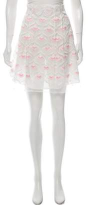 Giamba Embroidered Mini Skirt w/ Tags