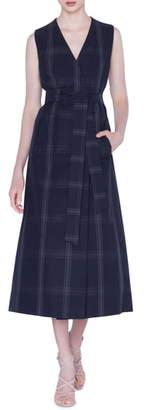 Akris Check Cotton Poplin Midi Dress & Bolero