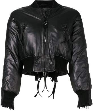 Diesel cropped bomber jacket