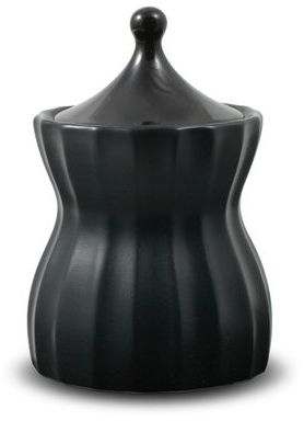 Mikasa Dynasty Black Twilight Sugar Bowl with Lid