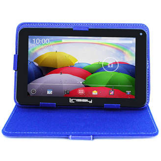 LINSAY 7 HD QUAD CORE Android 6.0 Tablet 8GB DUAL CAM Bundle with Blue Leather Protective Case
